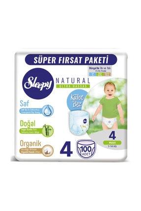 Sleepy Natural Külot Bez 4 Beden Maxi 100 Adet 7-14 Kg 0