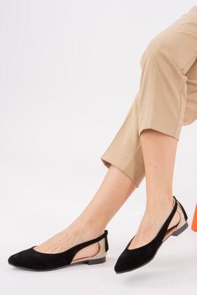 Fox Shoes Siyah/Ten Kadın Babet H726324002 1