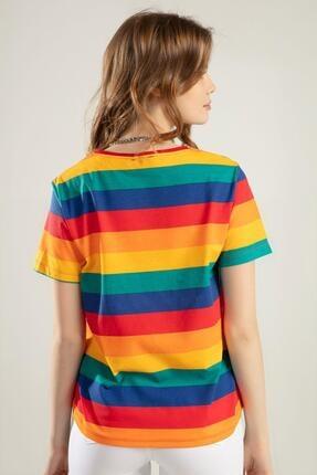 Pattaya Kadın Renk Bloklu Kısa Kollu Tişört Y20s110-4140 3