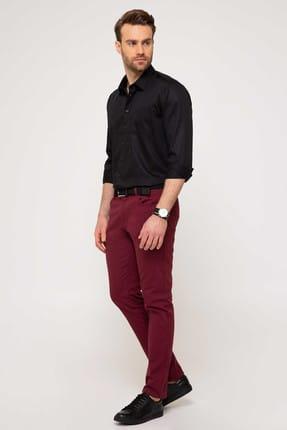 Pierre Cardin Erkek Bordo Slim Fit Chino Pantolon 1
