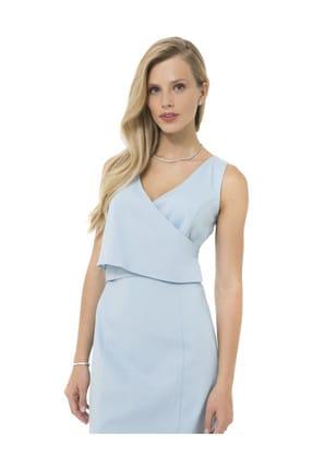 Accouchee Bebe Mavisi Kolay Emzirme Özellikli Şık Elbise 0