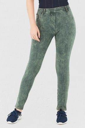Mite Love Yeşil Pantolon Görünümlü Kadın Tayt 0
