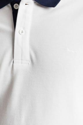 Ltb Erkek  Beyaz Polo Yaka T-Shirt 012198452060880000 2