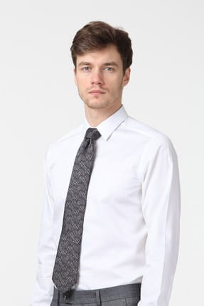 Ramsey Düz Dokuma Uzun Kollu Gömlek - RP10114050 2