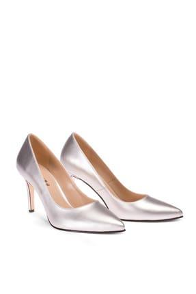 Deery Gümüş Kadın  Klasik Topuklu Ayakkabı 02029ZGMSM01 1