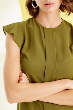 Journey Kadın Zeytin Yeşili Bluz 19YBLZ804 1