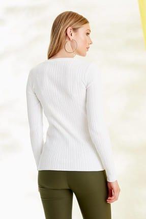 Journey Kadın Beyaz Triko Hırka 19YTRK702 3