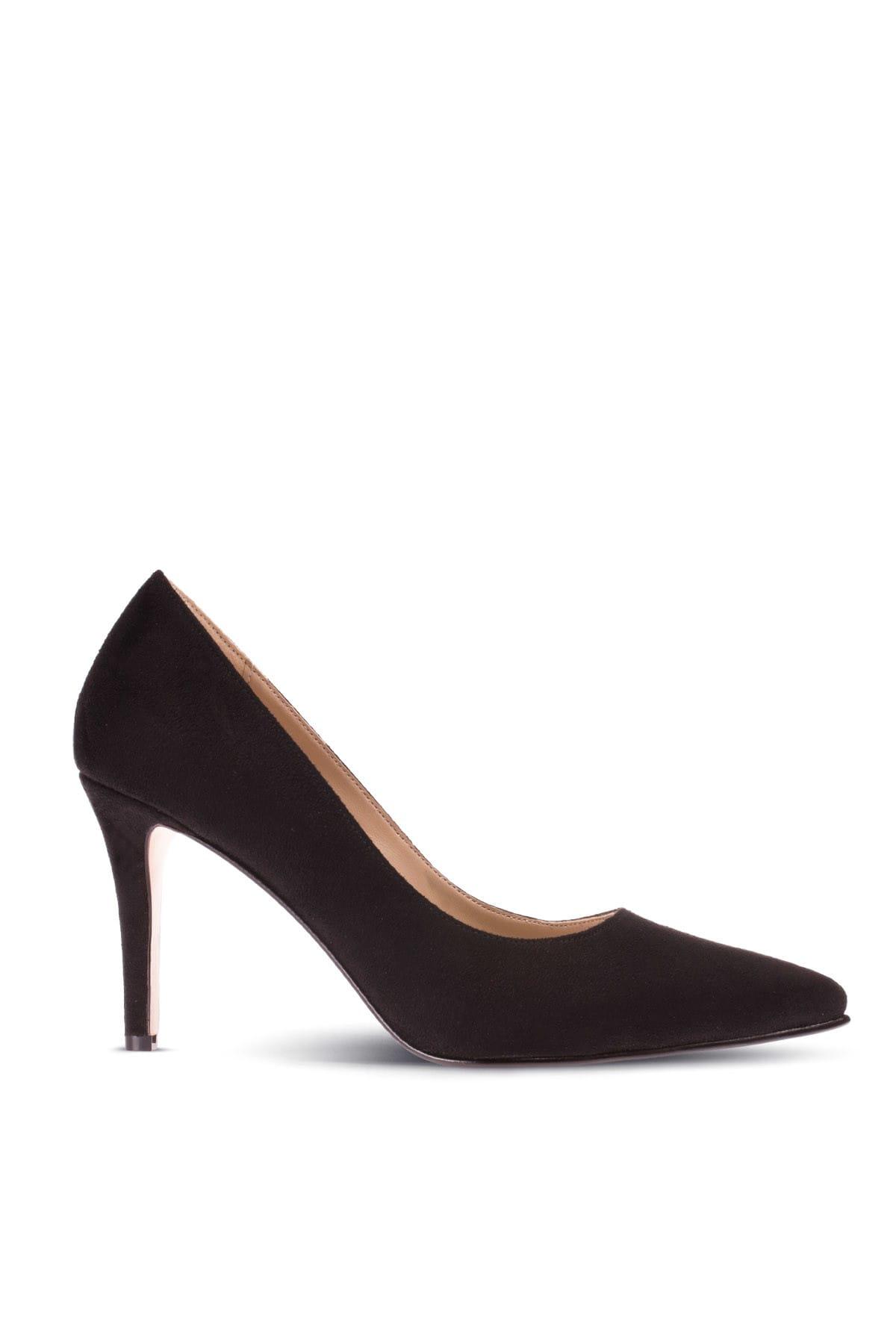 Siyah Kadın  Klasik Topuklu Ayakkabı 02029ZSYHM02