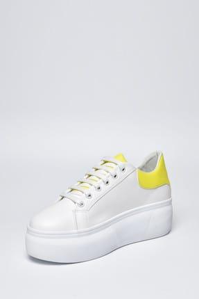 Jeep Ayakkabı Beyaz Sarı Neon Kadın Spor Ayakkabı 9Y2SAJ0005 4