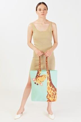 Addax Kadın Zürafa Desenli Çanta Ç08 ADX-0000019106 1