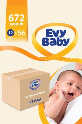 Evy Baby Islak Havlu Soft 12'Li Islak Mendil 672 Yaprak 1