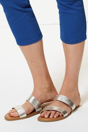 Marks & Spencer Kadın Lacivert Orta Belli Super Skinny Leg Kısa Jean Pantolon T57005110 3