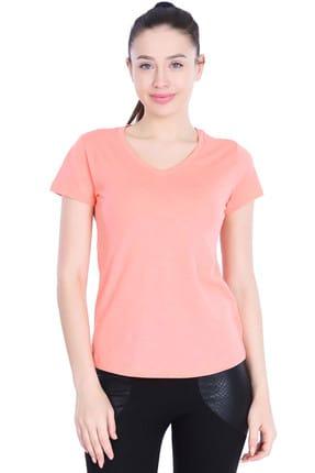 710180-Pnk Spo-Flakestop Kadın T-Shirt resmi