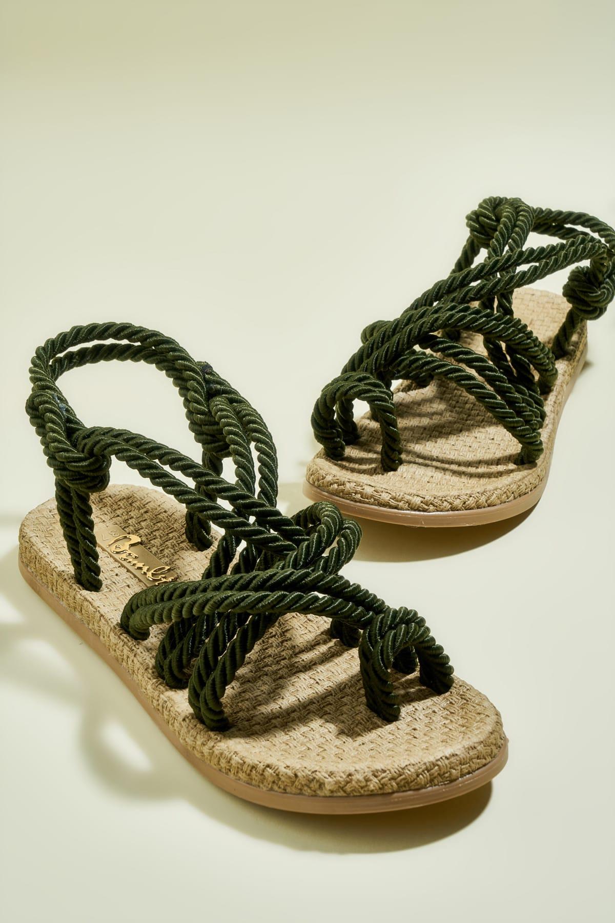 Bambi Haki Kadın Sandalet H0578010160
