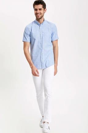 Defacto Carlo Skinny Fit Düşük Bel Dar Paça Beyaz Jean Pantolon 1