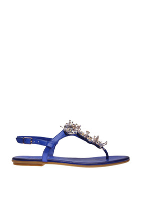İnci Hakiki Deri Koyu Mavi Kadın Sandalet 120130002045 3