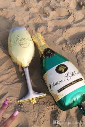 Chavin Doğum Günü Dev Boy Şampanya Kadeh Folyo Balon cin174 1