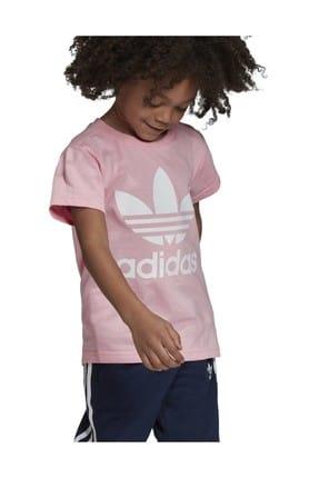 adidas Pembe Trefoıl Tee Çocuk T-Shirt 1