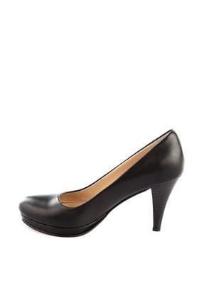 Dgn Siyah Kadın Klasik Topuklu Ayakkabı 714-148 2