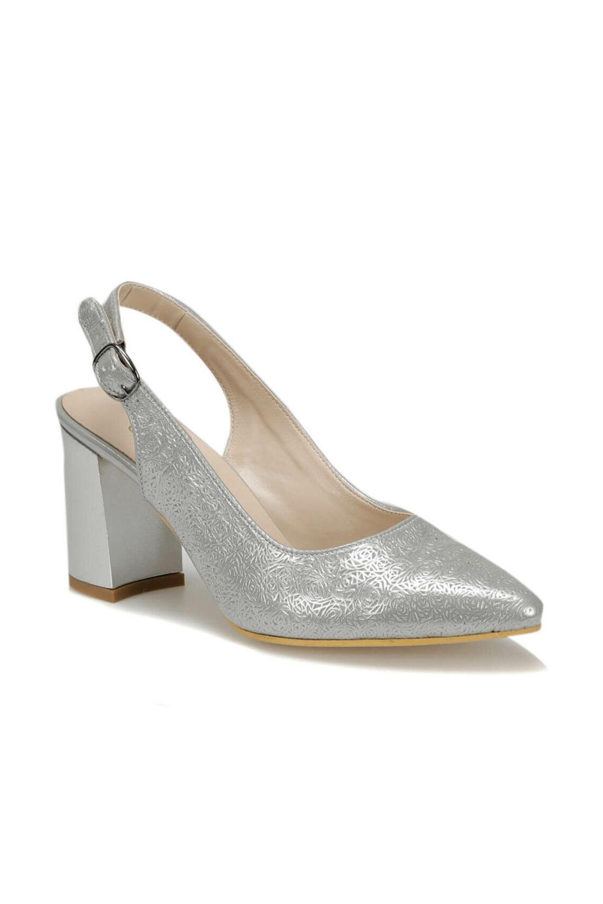 91.313117DZ Gümüş Kadın Topuklu Ayakkabı 100377153