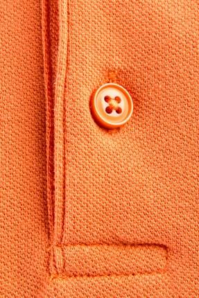 Kiğılı Erkek Turuncu Polo Yaka Düz Slimfit T-Shirt - 9093 3