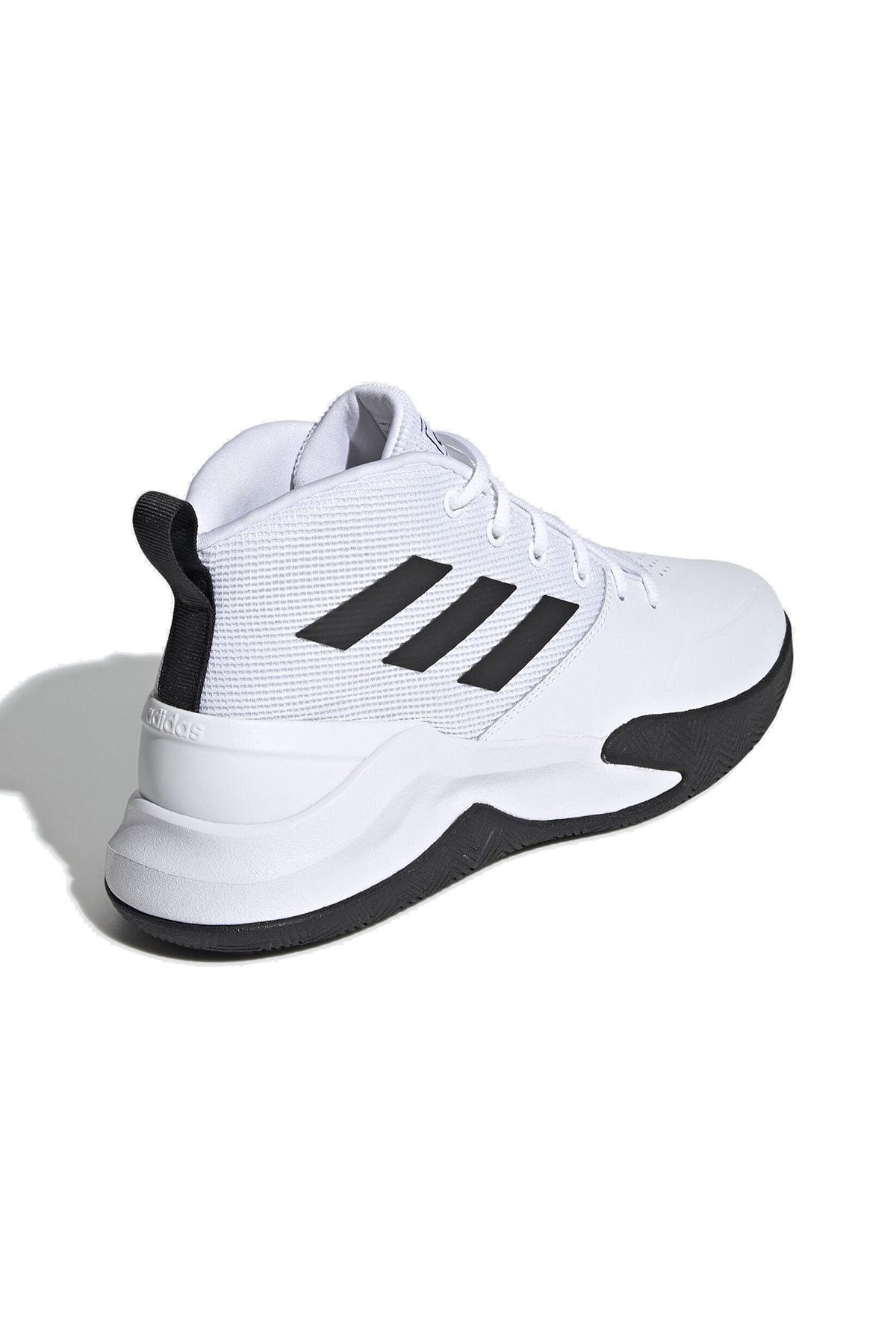 adidas OWNTHEGAME Beyaz Erkek Basketbol Ayakkabısı 100663970 3