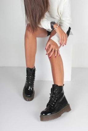İnan Ayakkabı K. Siyah Rugan Kadın Bot KY92495 2