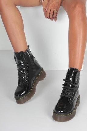 İnan Ayakkabı K. Siyah Rugan Kadın Bot KY92495 0