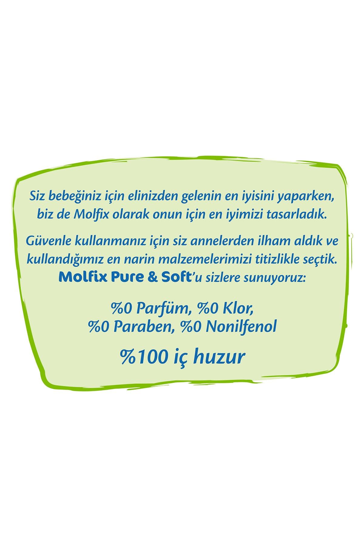 Molfix Pure&Soft Bebek Bezi 5 Beden Junior Aylık Fırsat Paketi 88 Adet 4