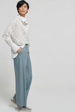 Yargıcı Kadın Nil Yeşili Biye Detaylı Pantolon 9KKPN3128X 0