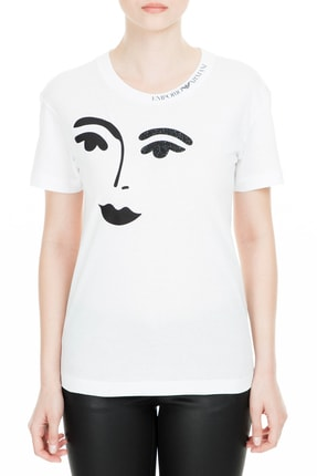 Emporio Armani Beyaz Kadın T-Shirt S 3G2T63 2J29Z 0100 0