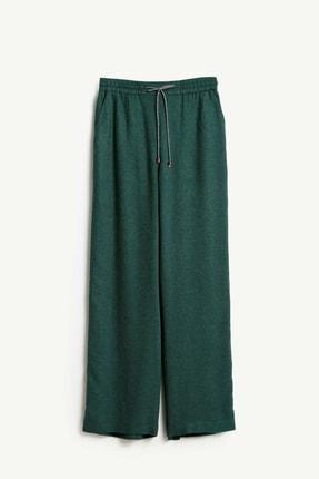 Yargıcı Kadın Yeşil Biye Detaylı Pantolon 9KKPN3128X 1