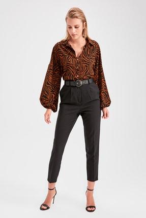 TRENDYOLMİLLA Siyah Havuç  Pantolon TWOAW20PL0245 3