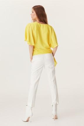 İpekyol Kadın Sarı  Kolları Volanlı Kuşaklı Bluz IS1190006401009 1