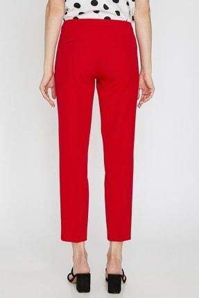 Koton Kadın Kırmızı Düz Kesim Pantolon 0KAK42500RW 3