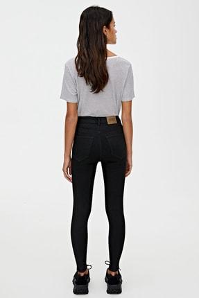 Pull & Bear Kadın Siyah Basic Yüksek Bel Skinny Fit Jean 09684315 3