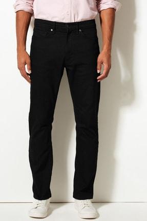Marks & Spencer Erkek Siyah Straight Fit Streç Jean Pantolon T17001616M 1