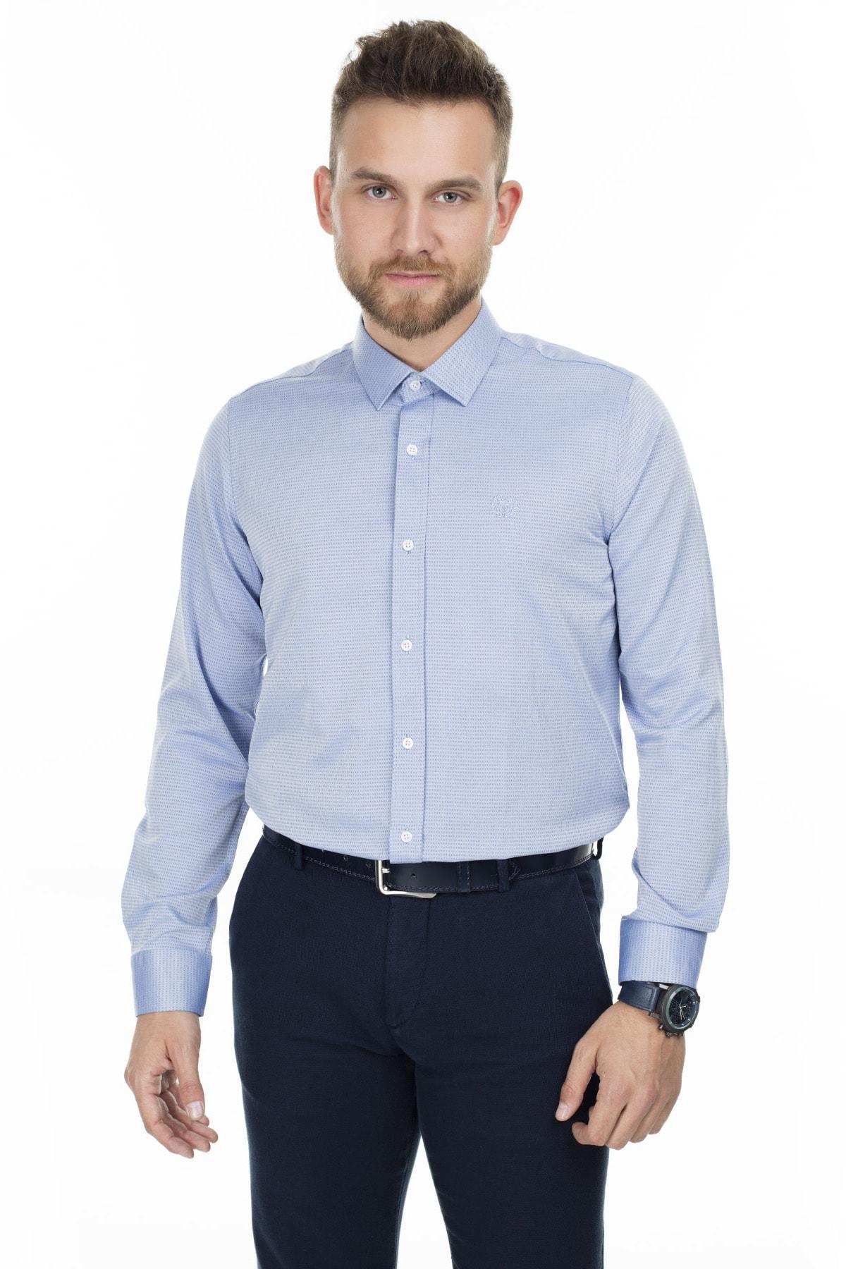 Sabri Özel Uzun Kollu Slim Fit Gömlek ERKEK UZUN KOLLU GÖMLEK 5431634 3