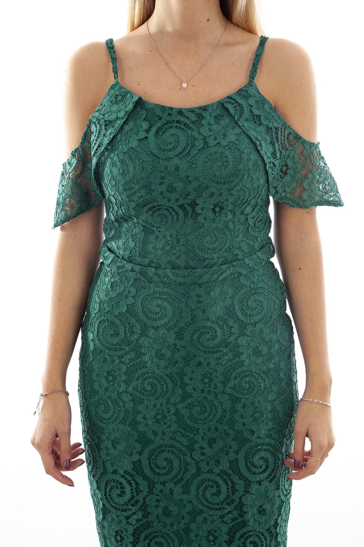 Ardanewline Kadın Yesıl Elbise 130122-10 1