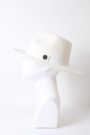 Kapin Beyaz Fötr Şapka 1