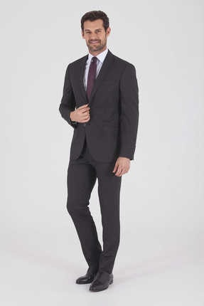 Çizgili Slim Fit SiyahTakım Elbise 33183019A001 resmi