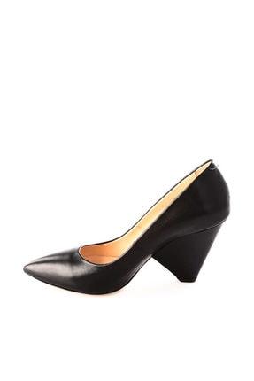 Dgn Siyah Kadın Klasik Topuklu Ayakkabı 5264-1242 1