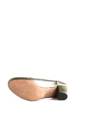 Dgn Yeşil Petek Yeşil Kadın Klasik Topuklu Ayakkabı 258-148 3