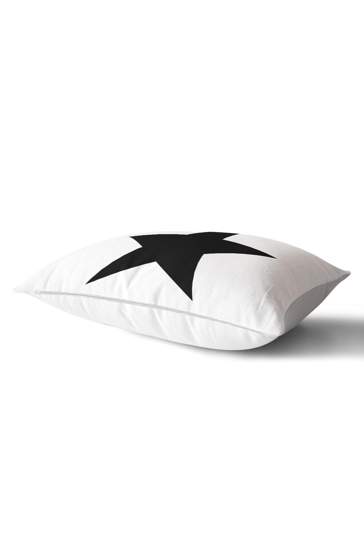Realhomes Modern Yıldız Desenli Dijital Baskılı Dekoratif Dikdörtgen Yastık Kırlent Kılıfı 1