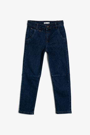 Koton Mavi Erkek Çocuk Cep Detayli Jean Pantolon 0