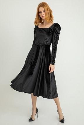 Kadin Siyah Elbise 20Y105-001