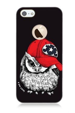 Teknomeg Apple Iphone 5 / 5s / Se Şapkalı Baykuş Kabartma Kılıf 0