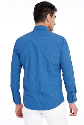 Kiğılı Uzun Kol Desenli Slim Fit Gömlek 1