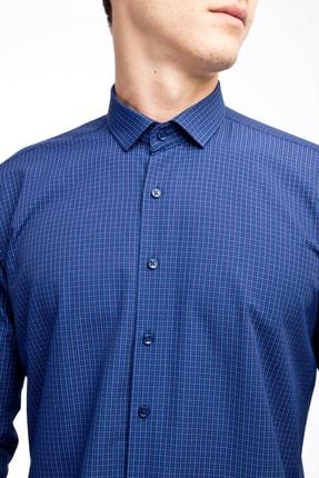 Kiğılı Uzun Kol Slim Fit Kareli Gömlek 1