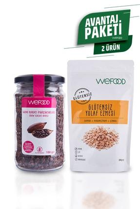 Wefood Glütensiz Yulaf Ezmesi 300 gr + Organik Ham Kakao Parçacıkları 150 gr 1